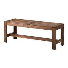 IKEA - ÄPPLARÖ, Banco ext, Para prolongar la duración y conservar el aspecto natural de la madera, el mueble ha sido tratado con varias capas de barniz para madera semitransparente.