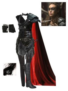 """Lexa The Commander - The 100"" by gone-girl ❤ liked on Polyvore featuring Lanvin, Balmain, KD2024, Alaïa, Majesty Black, Journee Collection, badass, the100, lexa and TheCommander"