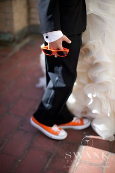 Cute ring bearer idea. Shoes in wedding color. Compliment flower girl's dress.