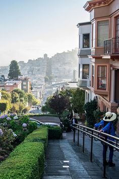 >> Morning On Lombard Street by Jim Watkins San Francisco Pictures, San Francisco Girls, Living In San Francisco, San Francisco City, San Francisco Travel, San Francisco California, California Dreamin', City Aesthetic, Travel Aesthetic