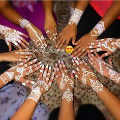 ❤ White henna ❤ @girly_henna on instagram