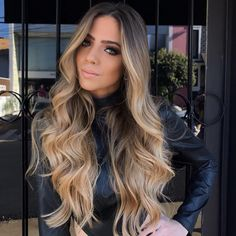 VeSunny Balayage Tape Hair Extensions Real Hair Ombre Tape in Extensions Dark Brown Fading to Highlighed Golden Blonde Balayage Tape in Per Pack Balayage Caramel Blonde, Hair Color Balayage, Bayalage, Blonde Highlights, Real Hair Extensions, Balayage Extensions, Tape In Extensions, Truss Hair, Blonde Hair Looks