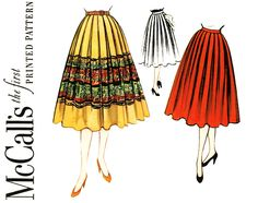Always taking fashion inspiration from vintage patterns! Love a good basic circle skirt, especially with a border print!