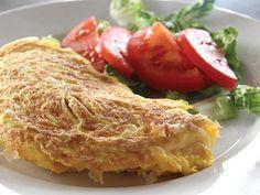Omelett med skinke og paprika