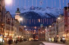 Winter in Innsbruck, Austria. Ahhhhh!!!!!!! I'll be here this December!!!!!!!