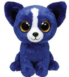 TY Beanie Boos - LIMITED EDITION T-Bone Plush Blue Dog Toy Show Exclusive