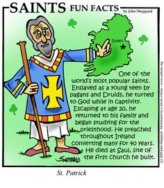 Saint Patrick is one of the world's most popular and widely recognized saints. He is one of the patron saints of Ireland. Catholic Crafts, Catholic Kids, Catholic School, Catholic Saints, Catholic Catechism, Patron Saints, Roman Catholic, Patrick Star, St Patricks Day History