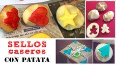 Sellos caseros con patata
