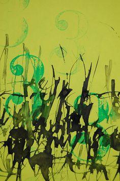 Verde 333 [caligrafía gestual] detalle