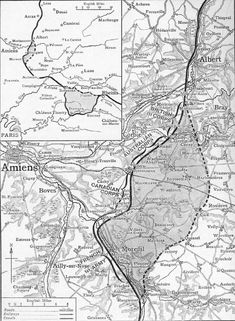 Map of ground gained by the British, Australian, Canadian and French forces during the first day of the Battle of Amiens in August 1918. The inset map compares the gain to that of the Germans on the Aisne in May-June 1918. But Amiens was not about ground gained, other than its effect on pushing German artillery further from the key railway junction at Amiens. It was about destruction and demoralisation of the German army, and in this succeeded brilliantly.