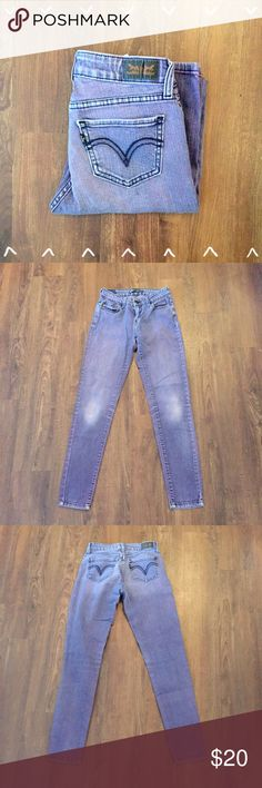 """Levi's 535"""" Legging Jeans Purple wash adorable skinnies! Gently worn. 99% cotton 1% Elastane 13"""" waist laying flat 29"""" inseam 8"""" front rise 12"""" back rise   Need any other information? Measurements? Materials? Feel free to ask! Don't be shy, I always welcome reasonable offers! Fast shipping! Same or next day! Sorry, no trades!  Happy Poshing!☺️ Levi's Jeans Skinny"""