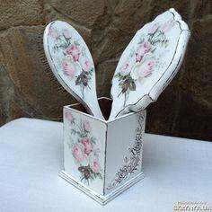 «Набор Розовый букет» зеркало расческа шебби шик
