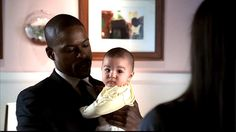 Baby Isabelle, Sydney's daughter, with one of her CIA babysitters.    Episode 5.12 of #Alias