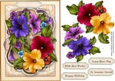 Beautiful Petunias In A Ornate Frame