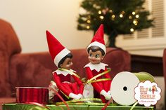 All wrapped up! | Elf on the Shelf Ideas