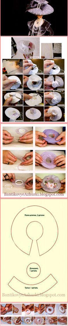 BantikovyeAzhurki.blogspot.com: Шляпы и шляпки для кукол своими руками.