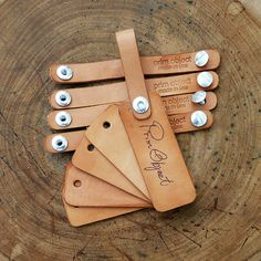 Cool thing about vegetable tan leather, luggage tags
