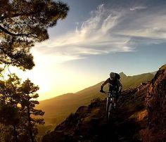 Epic sunset downhill ride on La Palma Canary Island. Einzigartige Abfahrt beim Sonnenuntergang auf La Palma.  #konstructive.de #canaryislands #bikersofinstagram #ridemore #mountainbiking #mtb #revolutionsports.eu #downhill #bikes #freeride #sunset #lapalma #mtblife #enduromtb #freeride #cyclechicks #allmountainstyle #girlsonbikes #cyclegirl #cyclinglife #cycling #singletrack #bikelove #29er #ilovemybike #cyclist #girlsonbike #igerscycling #sunny