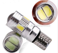 Cheap license plate light reading lights DC12V T10 W5W 5730SMD 6smd With Lens Canbus led lights