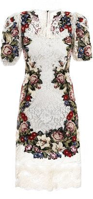 ShopStyle: Dolce & Gabbana Embroidered lace dress