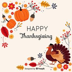 Thanksgiving concept with flat design background Free Vector Thanksgiving Pictures, Happy Thanksgiving Day, Box Design, Flat Design, Cute Clipart, Backgrounds Free, Email Invites, Vector Free, Clip Art