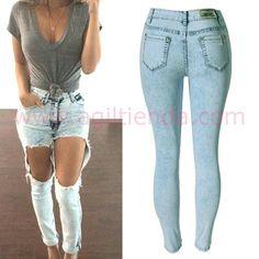 33 Ideas De Los Mejores Pantalones Rotos Pantalon Roto Pantalones Moda