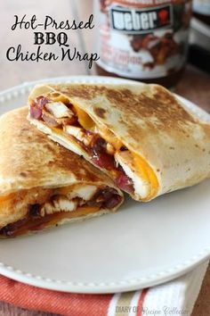 Hot Pressed BBQ Chicken Wrap | Diary of A Recipe Collector | Bloglovin'