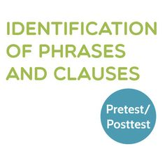 This pretest is designed to tell you exactly where your students stand on their paths to proficiency in grammar.The pretest/posttest includes multiple-choice questions from parts of speech to the functions of phrases and clauses.  Grades 7-11  # Grammar $