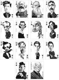 Playingcards Writers Fernando Vicente & Nórdica Libros by Fernando Vicente, via Behance