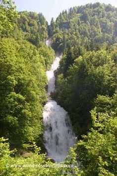 Giessbach Falls or Giessbachfälle  Brienz / Bernese Oberland, Bern Canton, Switzerland