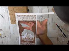 Tutorial album parte final Stamperia Old Lace - YouTube