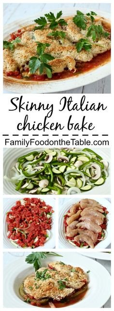 A light, low-carb veggie-packed Italian dinner with crispy chicken tenders! | Family Food on the Table