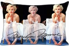 P#J Custom Marilyn Monroe Rectangle Pillowcase zipper Classic Pillow Case size 30X60cm&40X60cm W#1121Yq1
