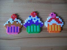 Cupcakes aus Bügelperlen  Perler Beads