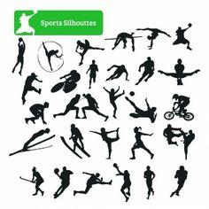 Coleção da silhueta do esporte