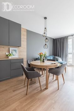 Best and Stylish Inspiring First Apartment Dining Room Ideas 5 Kitchen Room Design, Modern Kitchen Design, Dining Room Design, Living Room Kitchen, Interior Design Kitchen, New Kitchen, Kitchen Decor, Kitchen Grey, Living Rooms