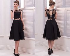 US$90.16 –  Two Piece Short Prom Dress with Short Sleeves. www.doriswedding..... Made to measure at no extra cost & Free Shipping! Sequin prom dress, beaded prom dress, vintage prom dress 2017, two-pieces prom dress, high neckline prom dress, satin prom dress, long prom dress, elegant prom dress, follow us to get more special offer! #DorisWedding.com