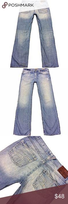 "Big Star Buckle ""Pioneer Boot"" Men SZ 36L Jeans Very nice pair of Big Star Buckle ""Pioneer Boot"" Men's SZ 36L Light Distress Wash Super Comfy 100% Cotton Jeans. Little staining on bottom hem Measurements:  Waist: 37"" Hips: 48"" Front rise: 11.5"" Back rise: 16"" Inseam: 35.5"" Big Star Jeans Bootcut"