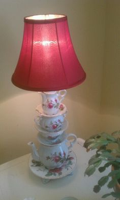 Teacup, teapot lamp