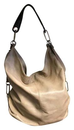The Lanvin Extra Large Tote Purse. Beige Leather Shoulder Bag is a top 10 member favorite on Tradesy. Fendi Purses, Hobo Purses, Purses And Handbags, Belt Purse, Tote Purse, Hobo Bag, Leather Purses, Leather Handle, Leather Necklace