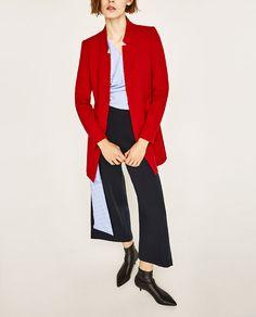 Veste blazer rouge femme zara
