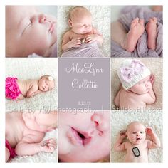 san diego newborn photographer storyboard birth announcement