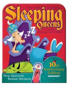 Prices for Sleeping Queens Anniversary Tin Card Game Bored Games, Fun Card Games, Quick Thinking, Winter Fairy, Face Down, 10 Anniversary, Tabletop Games, Games For Kids, Ladybug
