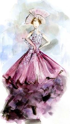 """Love watercolour illustrations---""""Dior 2007"""""""