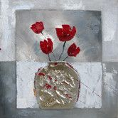 Found it at Wayfair - Revealed Artwork Boxed Flowers I Original Painting on Wrapped Canvas