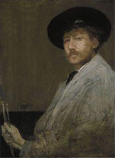 Arrangement in Gray: Portrait of the Painter (self-portrait), England, United Kingdom, 1872, by James Abbott McNeill Whistler.
