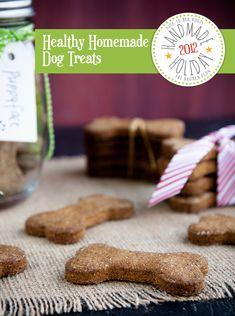 handmade holiday: healthy homemade dog treats