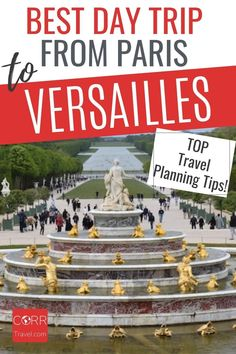 Get the best in travel planning with these day trip to Versailles from Paris by train travel tips so you know when and how to beat the crowds in your #Paris and #Versailles over 40 travel and solo travel. By @CORRTravel #CORRTravel Travel Planning | Travel Tips and Tricks | International Travel Tips | France Travel Guide | Europe Travel Guide | Budget Travel Tips | Over 40 Travel | Travel Itinerary | Retirement Travel Ideas Paris Travel Tips, Solo Travel Tips, Europe Travel Guide, France Travel, Travel Destinations, Travel Ideas, Budget Travel, Day Trip From Paris, International Travel Tips