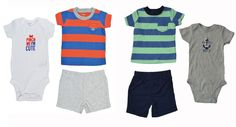 Carters Boys 3 Piece Set Toddler Baby Shorts SS Shirt Bodysuit Outfit 3-24 Month #Carters #DressyEverydayHoliday