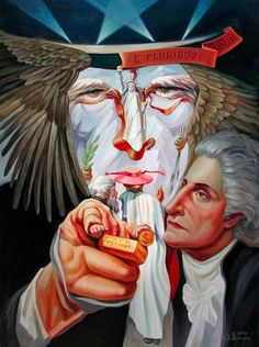 "15 Optical Illusion Paintings by Oleg Shuplyak salvadordali-art: ""culturenlifestyle: Ukrainian artist Oleg Shuplyak composes amazing optical illusions paintings with impressive technique. Optical Illusion Paintings, Art Optical, Optical Illusions, Illusion Kunst, Illusion Art, Illusion Drawings, Oleg Shuplyak, Image Halloween, Famous Historical Figures"